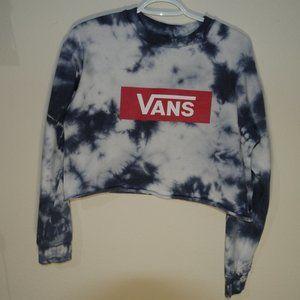 Vans Navy Tye Dye Crop Sweatshirt